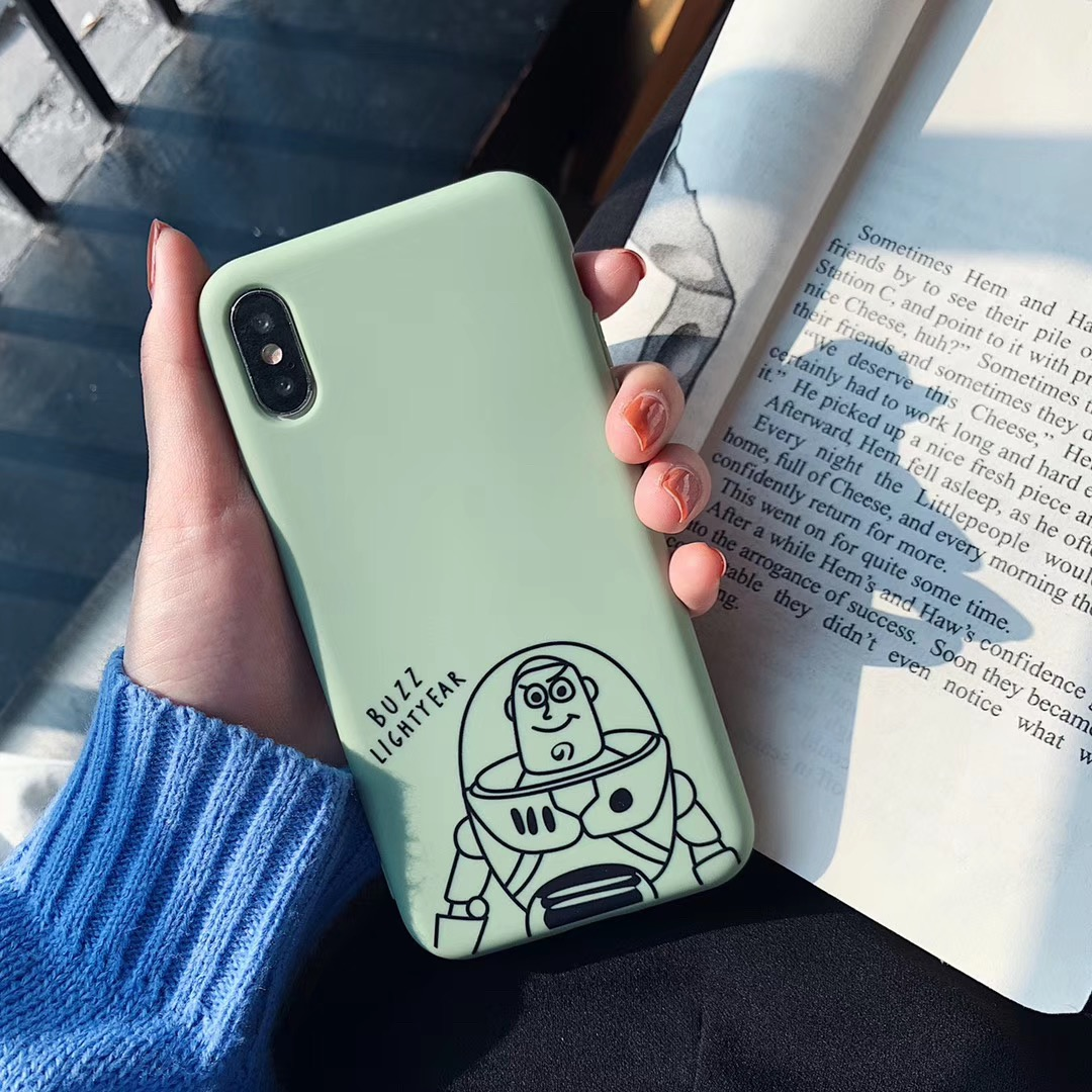 Cute Cartoon Toy Story Buzz Lightyear Phone Case For iphone Xs MAX XR X 6 6s 7 8 plus Fun Pattern Candy soft TPU back cover Capa in Fitted Cases from Cellphones Telecommunications