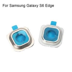 Image 5 - 1 set לסמסונג גלקסי S6 קצה אחורי מצלמה אחורית מסגרת מחזיק זכוכית עדשת החלפת חלקים