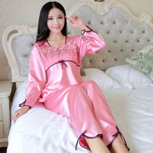 2015 autumn/winter long sleeve lovers pajamas suit Ms. Han edition leisurewear silk Free home delivery