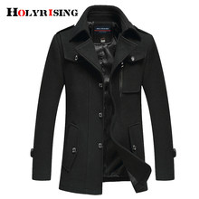 Holyrising wool blend coat 남성 캐주얼 카사 카 hombre mens overcoat 두꺼운 재킷 warm classic cloth man fitted coats 18259-5(China)