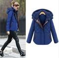 Plus Size Coat free shipping 2015 Winter Women Coat Cotton Outwear European and American Fashion Warm Long Coats size  S-4XL