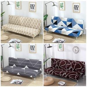 Image 1 - גידמת ספה כיסוי למתוח יהלומי הדפסת ספת מיטת כיסוי ספה ספנדקס ספה מכסה ללא משענות אלסטי ספה כיסוי 1PC