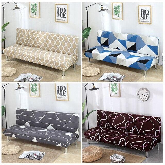 גידמת ספה כיסוי למתוח יהלומי הדפסת ספת מיטת כיסוי ספה ספנדקס ספה מכסה ללא משענות אלסטי ספה כיסוי 1PC