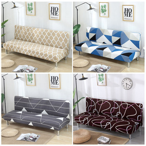 Image 1 - Armless Sofa Abdeckung Stretch Diamant Druck Sofa Bett Abdeckung Sofa Spandex Sofa Deckt Ohne Armlehnen Elastische couch abdeckung 1PC