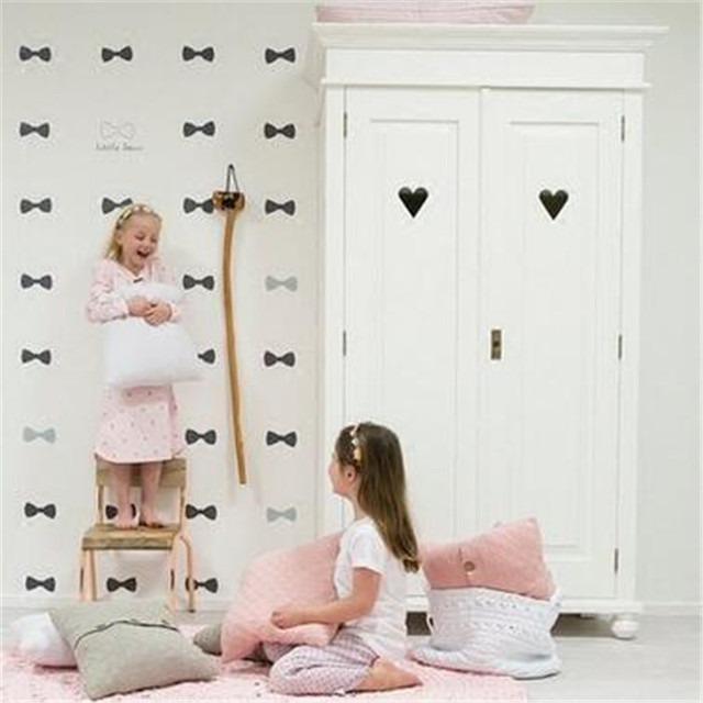 Lovely Little Bow Wall Sticker Girls Party Decoration Bow Tie ...
