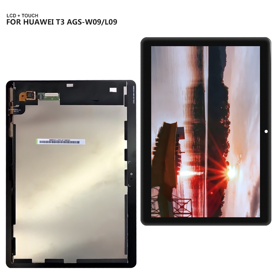 For Huawei Mediapad MediaPad T3 10 AGS-L03 AGS-L09 AGS-W09 T3 LCD display touch screen digitizer assembly lcd screen display touch digitizer for 5 5 huawei g8 rio l02 rio l03 white black gold color free shipping