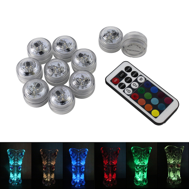 Wedding Tea 03 Decoration Electric Lamp Candle Floral Submersible Control Lights Aquarium 22Off Remote Flameless Led In 10pcs Us14 Kaarsen 0Nmnw8