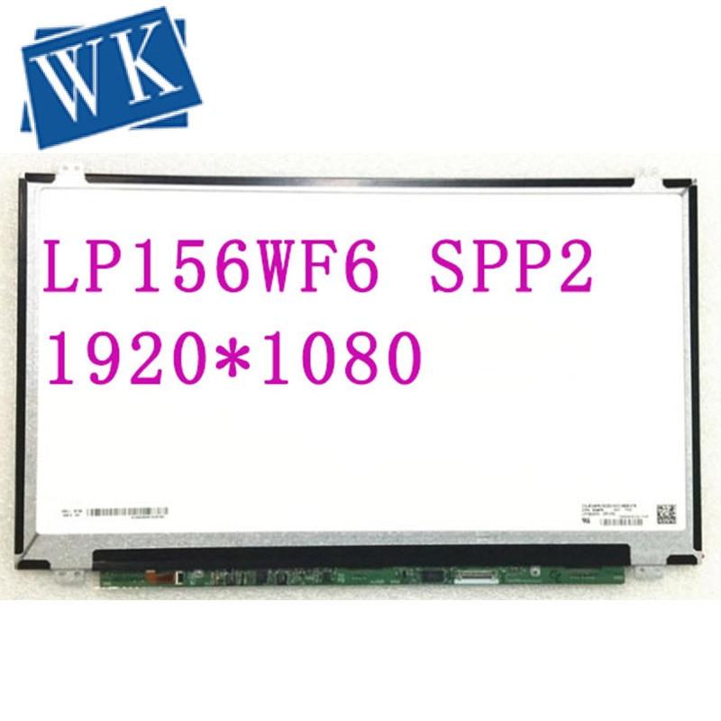 Free Shipping LP156WF6 SPP2 SPP1 SPC1 SPH1 SPM1 SPN1 SPA1 SPK1 SPK2 SPJ1 Laptop LCD Screen 1920*1080 EDP 30 pins IPS