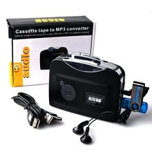 Portable USB Analog Tape Cassette To MP3 Digital for iPhone iPad PC Converter Capture Stereo Audio Music Player