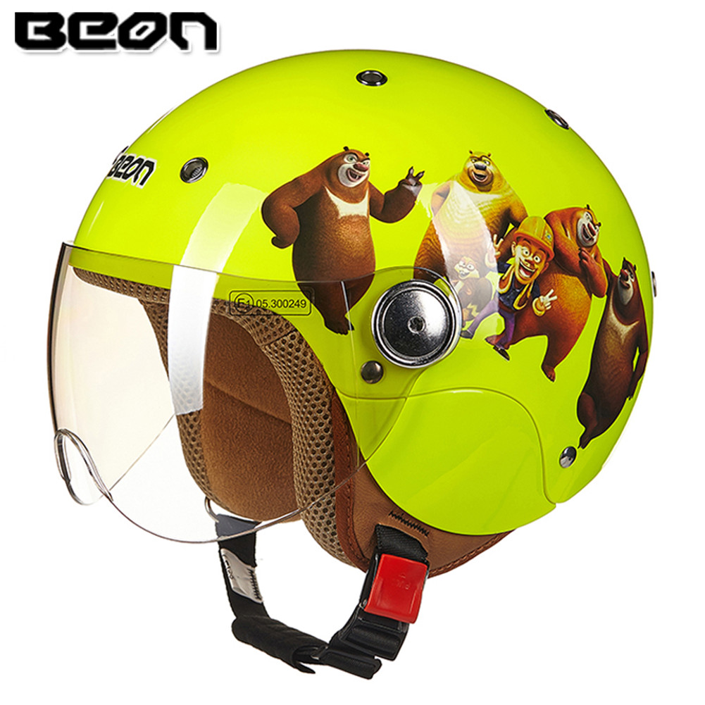 Beon Cartoon Kinder Moto Rcycle Helm Kinder Mädchen Jungen Moto Casque Casco Moto Cicleta Capacete Kind Frauen Roller Helme Duftendes Aroma