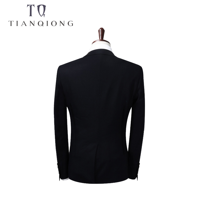 TIAN QIONG 2018 Men Business Suit Slim fit Classic Male Suits Blazers Luxury Suit Men Two Buttons 2 Pieces(Suit jacket+pants)