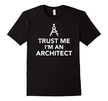 Crazy Tee Shirts Printed Men O-Neck Short-Sleeve Trust Me I'M An Architect Tee недорого