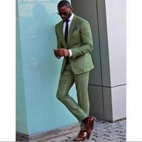 Peak Lapel Men Suits Custom Made Formal Wedding Party Prom Terno Gentlemen Style New Arrival Blazer(JacketPant+Tie+Handkerchief)