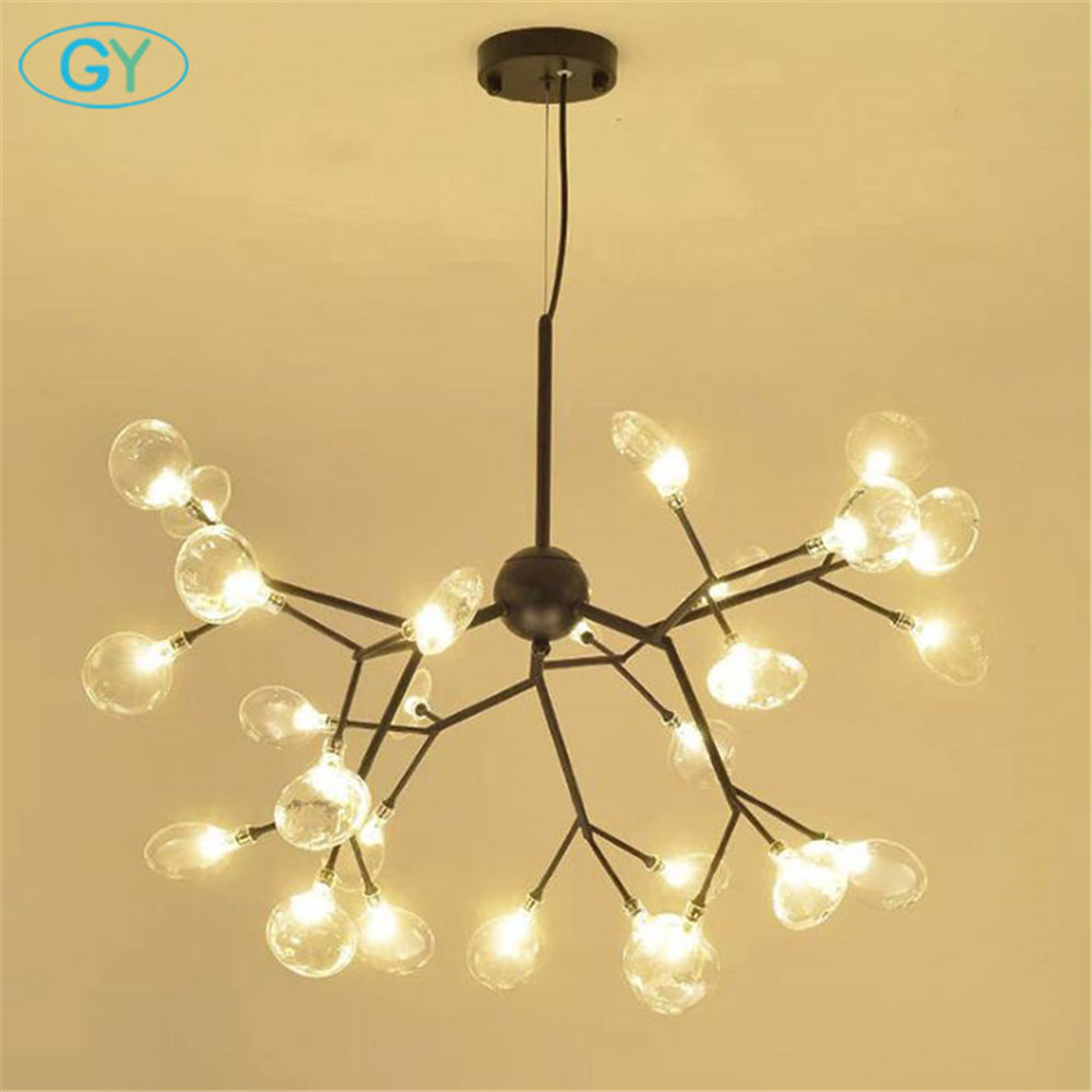 Nordic Modern LED chandelier Art tree branch lustre lighting restaurant cafe clothing store lighting Nordic LED living room lamp цена