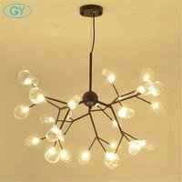 Nordic Modern LED chandelier Art tree branch lustre lighting restaurant cafe clothing store lighting Nordic LED living room lamp