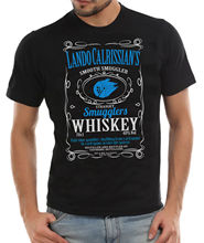 Lando Calrissians Smooth Smugglers Whiskey T-Shirt Han Solo A Star Wars Story Free shipping  Harajuku Tops Fashion Classic