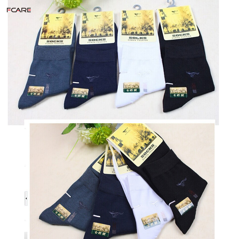 Fcare 10 PCS=5 pairs Socks SEPTWOLVES bamboo casual padded socks brand bamboo charcoal anti-odor antibiotic socks