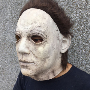 Image 5 - 2018 Hot Movie Halloween Horror Michael Myers Mask Cosplay Adult Latex Full Face Helmet Halloween Party Scary Props toy