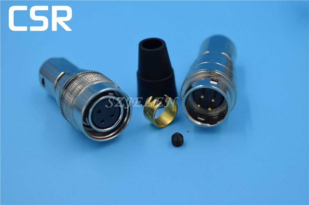 Hirose Connector 4 pin Plug and socket , HR10A-7P-4S/HR10A-7J-4P,4 pin Male and female connectors, electronic connectors