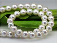 Japan Akoya natural seawater pearl necklace imported light glass mirror round 8 8.5MM mother GIFT