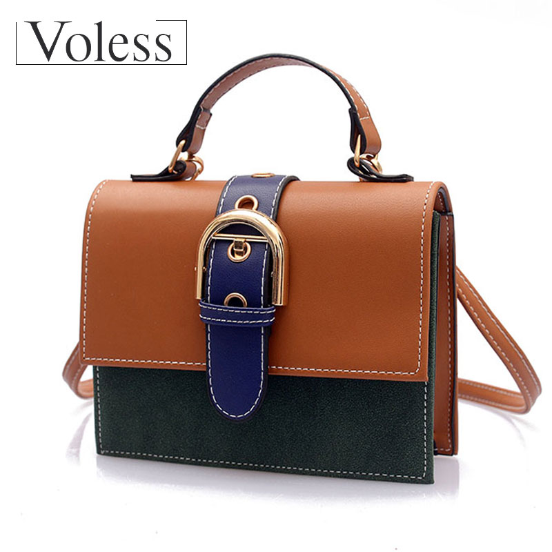 VOLESS  Luxury Handbags Women Bags Casual Tote Messenger Women Bag Fashion Patchwork PU Leather Handbag Bag For Women 2018 Сумка