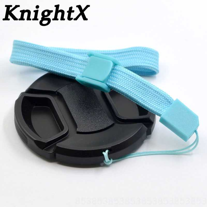 "KnightX 2 יחידות מצלמה עדשה שווי כיסוי 49 מ""מ 52 מ""מ 55 מ""מ 58 מ""מ 62 מ""מ 67 מ""מ 72 מ""מ 77 מ""מ עבור Fuji Lumix ניקון canon t6 sony alpha nex 5 a5000"