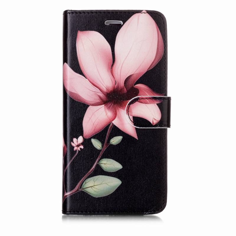 For Fundas Apple iPhone 7 8 Plus Case Leather 2 in 1 Wallet Silicone Back Cover For iPhone 7 Plus Case Cute Colored Drawing