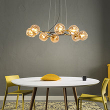 Postmodern chandelier lighting Nordic Glass deco fixtures living room hanging lights bedroom pendant lamps dining illumination