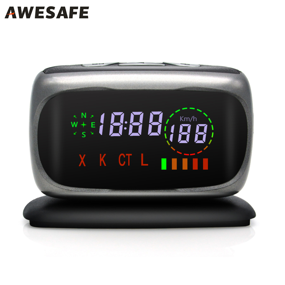 AWESAFE  Car Anti Radar Detector Center Console mini Radar Detector For Russia X/K/CT/L 360 Degree Laser Detection with Russia 2017 gps navigator car anti radar detector x k ka ultra k strelka 360 degree laser detection with russia language