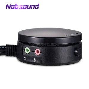 Image 1 - Mini auriculares/altavoz de Control de volumen de ordenador, 3,5mm, interruptor de Audio con micrófono