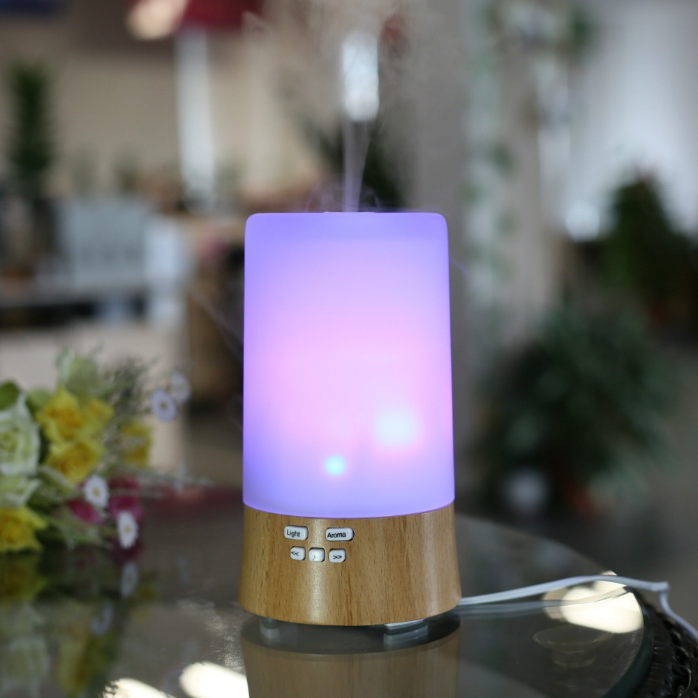 Aroma Diffuser with Exclusive Music Player Real Wood Ultrasonic Humidifier Nebulizer Fogger For Portable Vaporizer