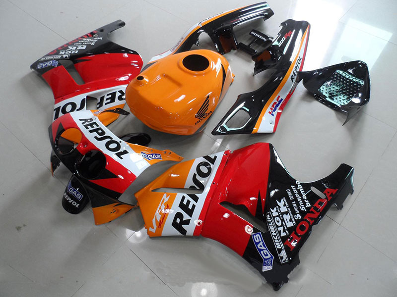ABS Fairing Kit Fit VFR400 V4 1988 1992 VFR 400 NC30 88 92 REPSOL with tank