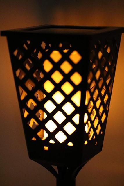 Tiki Lighting Throughout Dancing Tiki Light Waterproof Path Flame Courtyard Lamp Led Torch Outdoor Solar