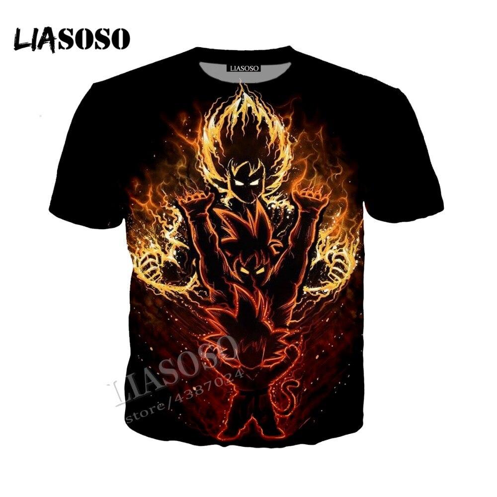 LIASOSO3D Print Comfort Polyester Top Japanese Anime Hoodie Zip Hoodie Dragon Ball Wukong Saiyan Men Women Sportswear CX225