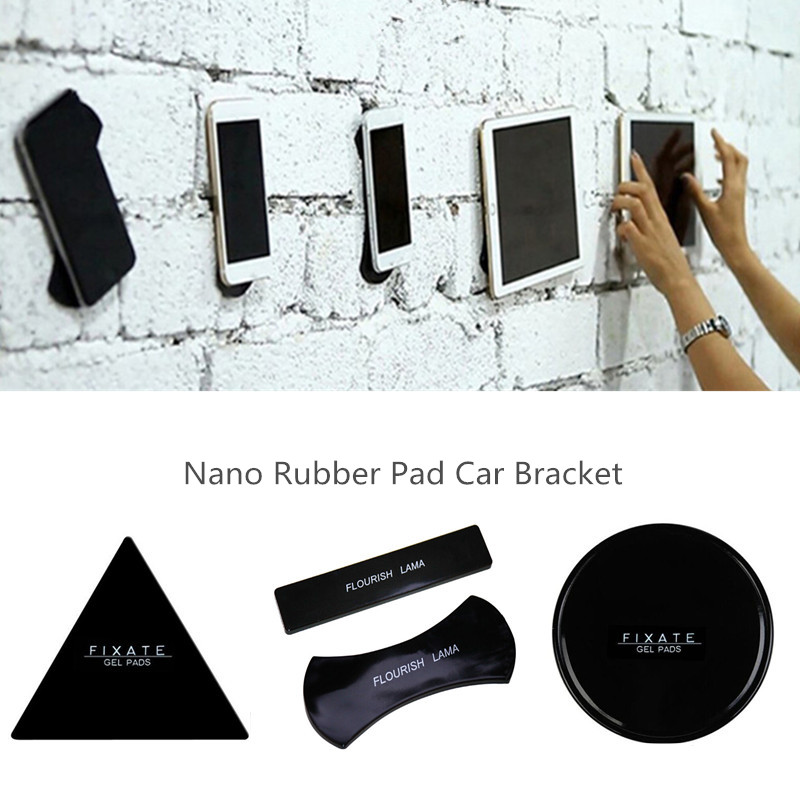 FLOURISH LAMA Nano Rubber Sticky Pad Anti-Slip Mat Gel Dash Car Mount Holder for Cell Phone Universal Sticker Car Phone Holder
