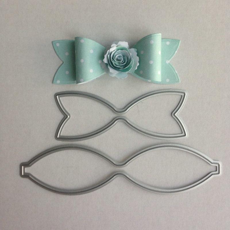 Bow Ties Stitched Metal Cutting Dies Cut Practice Hands-on DIY Cards Scrapbooking Metal Stencil Cut Dies Christmas Cutting Die