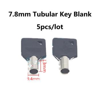 5 sztuk partia 7 8mm rurowy klucz pusty klucz zarodek rurowy pusty klucz ślusarz narzędzia akcesoria tanie i dobre opinie 7 8mm Tubular Key Blank
