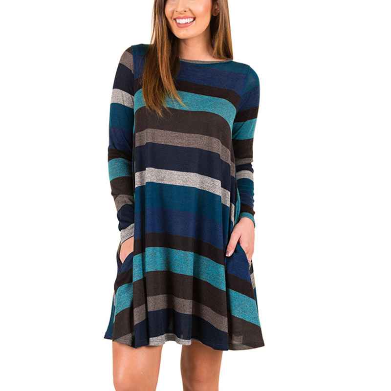 New  DAYSOFT Sweater Dresses 2019 Pockets Dress Women Nice Christmas Blue  Dress for New Year Sexy Fashion Long Sleeve Vestidos Party-in Dresses from  Women s ... b5e8be04f678