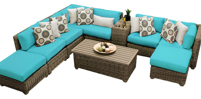 royal 10 piece all weather outdoor wicker patio furniture sofa set