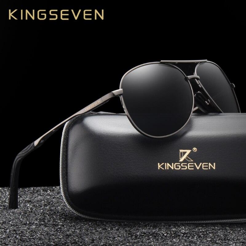 KINGSEVEN Brand Fashion Men's UV400 Polarized Sunglasses Men Driving Shield Eyewear Sun Glasses Oculos Gafas N7013