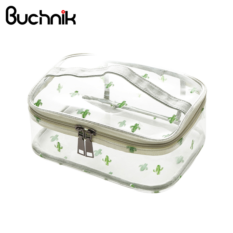 PVC Women Wash Bag Travel Waterproof Make Up Organizer Case Multi-Size Cosmetic Storage Accessories Supplies Product