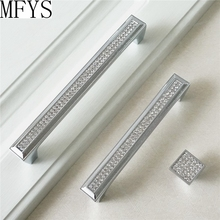 5 6.3 7.55 Modern Dresser Pull Knobs Glass Rhinestone Crystal Drawer Pulls Handle Knob Kitchen Cabinet Door Handles