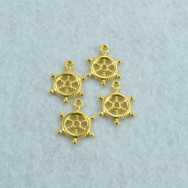 748de1f51 100 قطع معدنية سحر لون الذهب الدفة المعلقات النتائج مجوهرات و مكونات احتواء  القلائد و أساور صنع Z142125