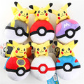 pokemon go Pikachu wizard ball pendant plush embroidery Backpack accessories baby toy PP Cotton Anime cute toys for chilren gift