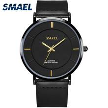 Fashion Wristwatches Men Quartz SMAEL Luxury Brand Watch Drop Shipping Men Gift Waterproof Clock 1902 Leather Men Watches Quartz men watch top luxury brand chronos fashion clock pu leather strap waterproof multifunction quartz wristwatches gift hot sale