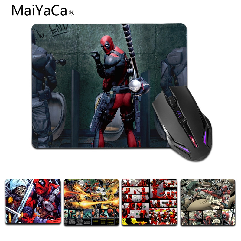 MaiYaCa New Design comic Deadpool High Speed New Mousepad Size for 18x22cm 25x29cm Rubber Mousemats