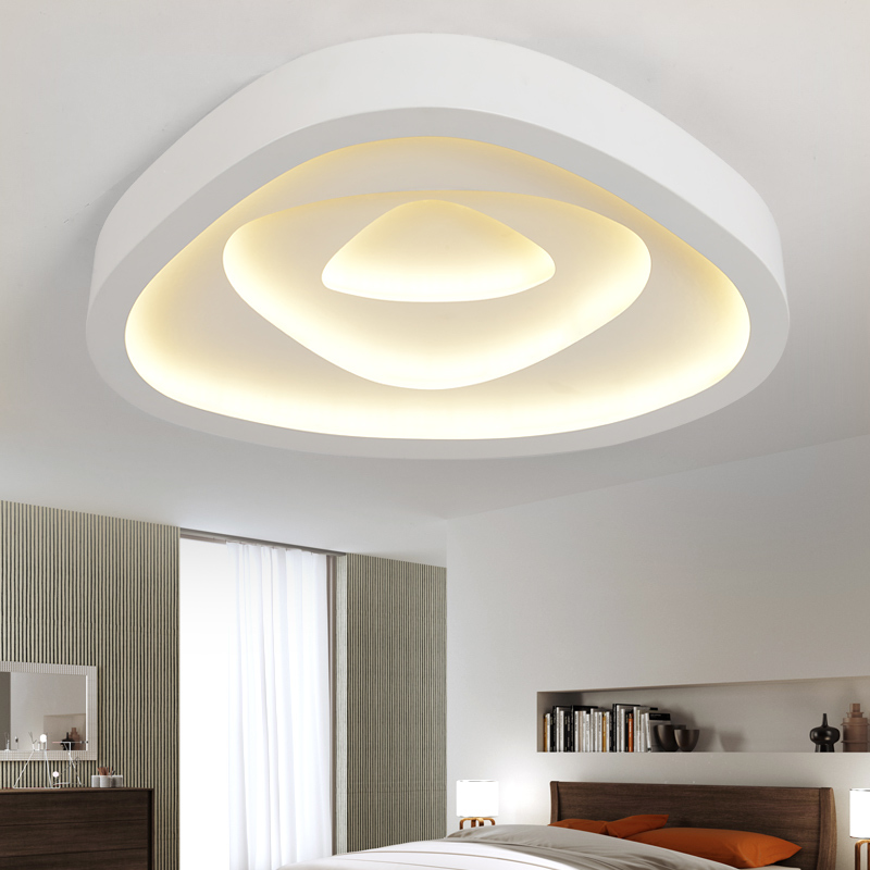 Modern led triangle ceiling lighting bedroom living room - Lamparas de techo leds ...