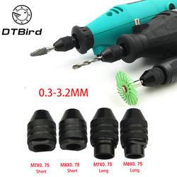4 типов мультипатрон Быстрозажимной для Dremel 0,3-3,2 мм патроны для сверла адаптер конвертер Универсальный мини патрон DT6