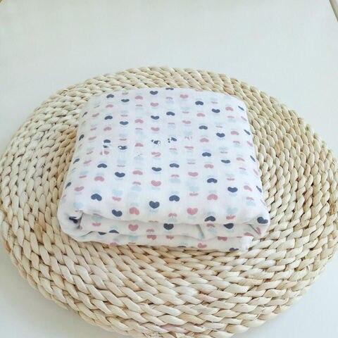 musselina de algodao swaddle cobertor camadas duplas para o infante do bebe respiravel 120 120
