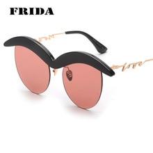 Фрида 2016 новый усы очки мода солнцезащитные очки женщины уникальный дизайн урожай ретро очки Cat eye оттенки очки UV400 Gafas